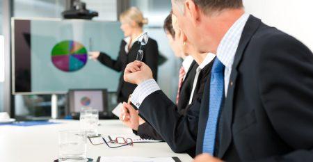 Business – Präsentation in einem Team