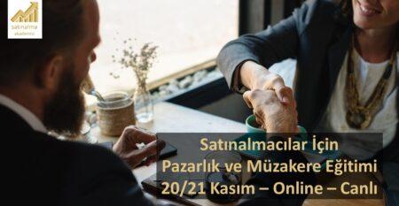 Pazarlık Müzakere Satınalma Eğitimi 20 Kasım 2020
